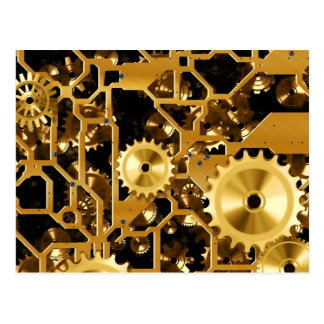 Gears in Gold Postcard