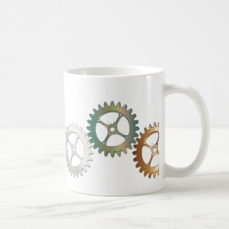 Gears in metallic colors coffee mug