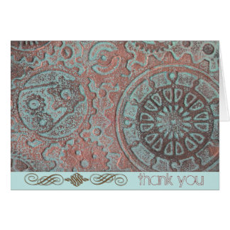 Gears in Motion Thank You Card