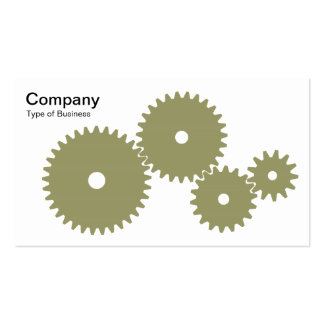 Gears - Khaki on White Business Cards