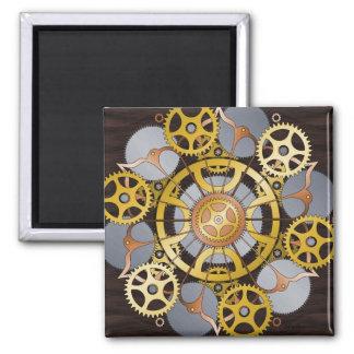 Gears Mandala Square Magnet