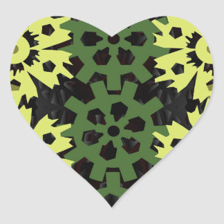 Gears Of Nature Heart Sticker