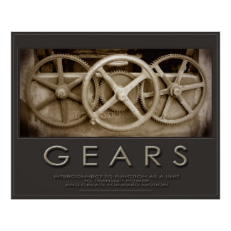 GEARS Size Huge 50x60 or Smaller Sizes too Print