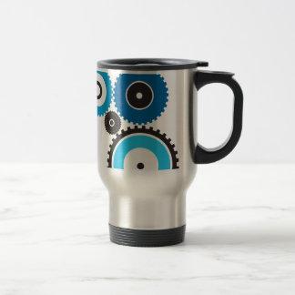 Gears Stainless Steel Travel Mug