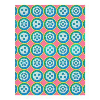 Gearwheels pattern 21.5 cm x 28 cm flyer