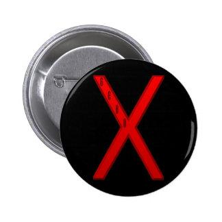 Gebo Rune red 6 Cm Round Badge