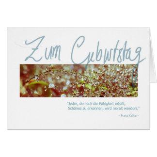 """Geburtstagskarte """"Kafka Waterberries"""" Card"""
