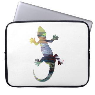 Gecko art laptop sleeve