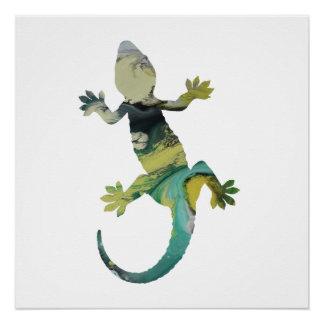 Gecko art poster