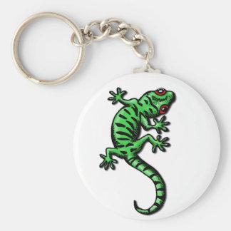 gecko basic round button key ring