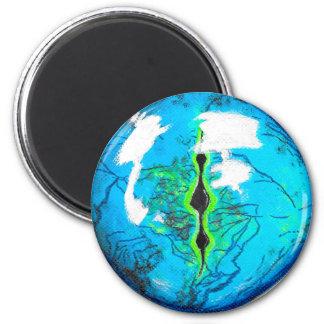 Gecko Eye 6 Cm Round Magnet