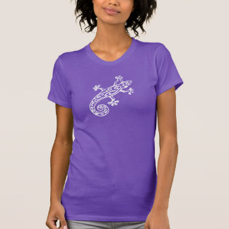 Gecko graphic white out ladies t-shirt