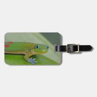 gecko green taro luggage tag