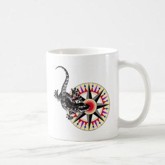 Gecko Lizard & Compass Rose Coffee Mug