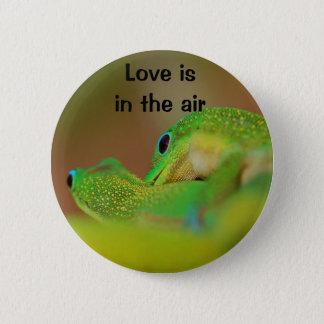 Gecko Love 6 Cm Round Badge