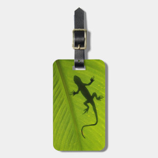 Gecko Silhouette Luggage Tag
