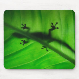 gecko silhouette mouse pad