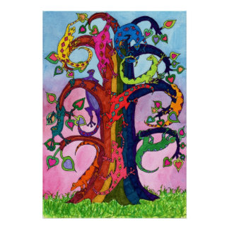 Gecko Tree of Life Poster