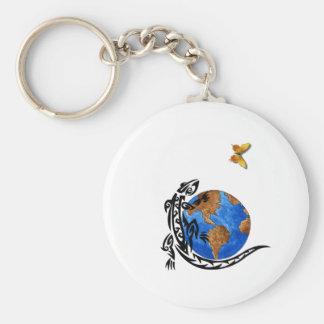 Gecko World Basic Round Button Key Ring