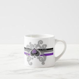 Geebot's ace pride spade logo white espresso cup