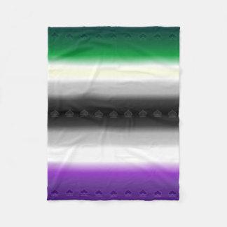 Geebot's Aro Ace Gradient Pride Flag with Spades Fleece Blanket