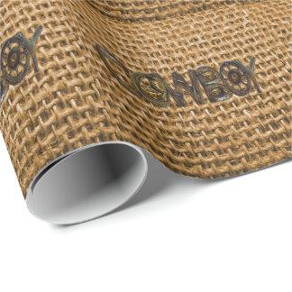 Geebung Cowboy Burlap Wrapping Paper