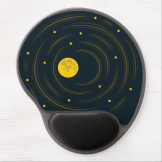 Geek Abstract Stars And Moon Gel Mouse Pad