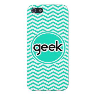 Geek; Aqua Green Chevron iPhone 5/5S Cases