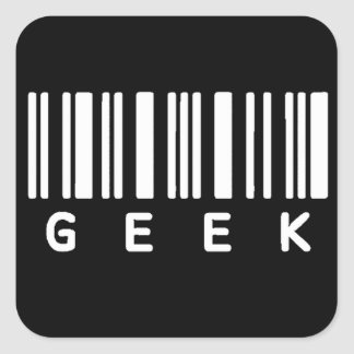 Geek Barcode Square Sticker