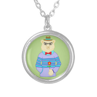 geek bear silver plated necklace