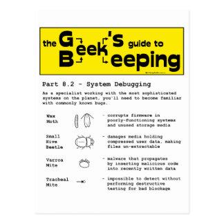 Geek Beekeeping (Debugging) - Postcard
