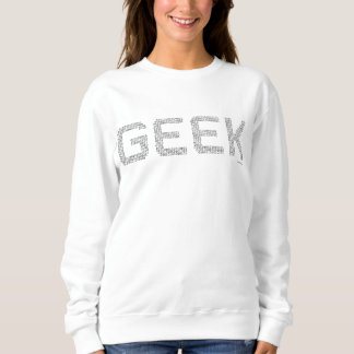 Geek binary code computer freaks cool programmer sweatshirt