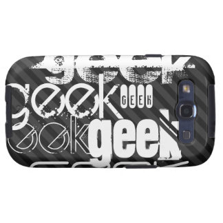 Geek; Black & Dark Gray Stripes Galaxy SIII Covers