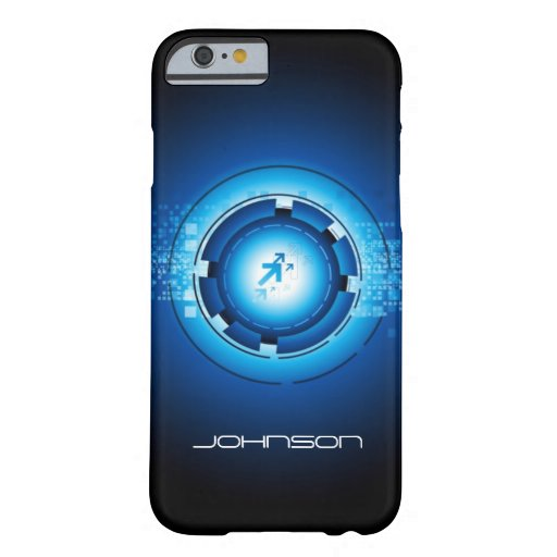 Geek Blue Abstract Hi-Tech Concept - Cool Barely There iPhone 6 Case