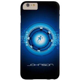 Geek Blue Abstract Hi-Tech Concept - Cool Barely There iPhone 6 Plus Case