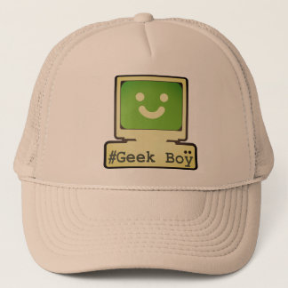 geek boy trucker hat