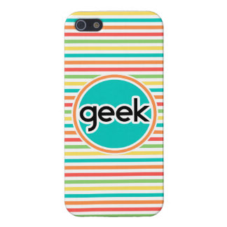 Geek, Bright Rainbow Stripes iPhone 5/5S Cover