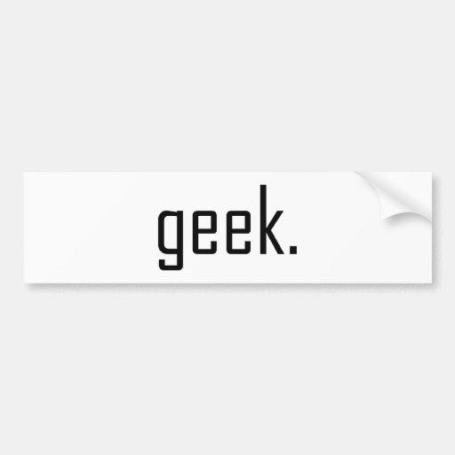 geek Bumper Sticker