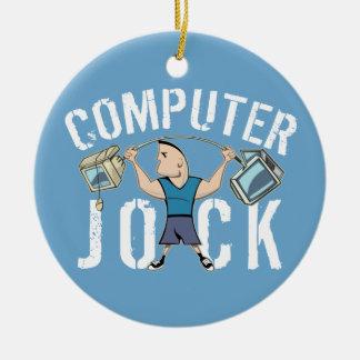 Geek Computer Jock Ceramic Ornament