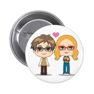 Geek Couple 6 Cm Round Badge
