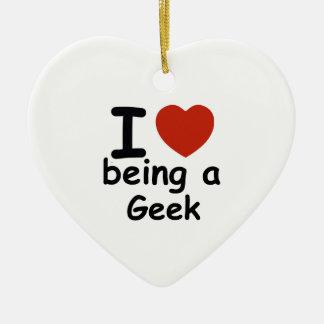 geek design ceramic heart decoration