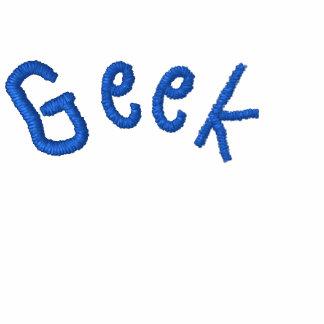 Geek Embroidered Women Zip Embroidered Ladies Zipped Hoodie