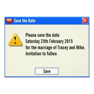 Geek Error Message Save the Date Invitation