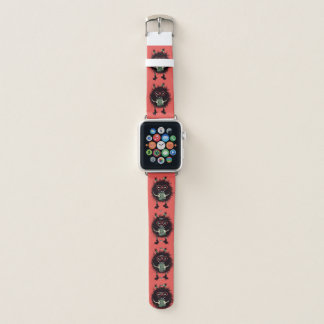 Geek Evil Bug Character Loves Reading Apple Watch Band