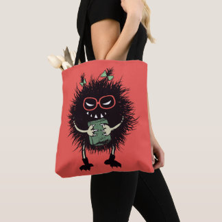 Geek Evil Bug Student Loves Reading Tote Bag