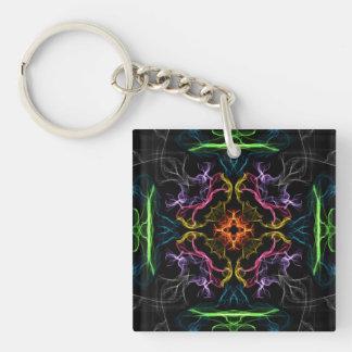Geek Fantasy Single-Sided Square Acrylic Key Ring