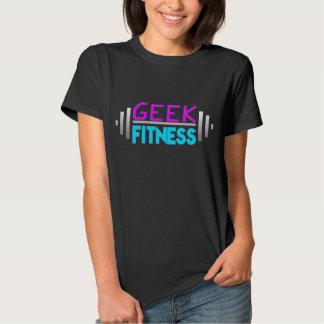 Geek Fitness Women's Barbell Logo Tee