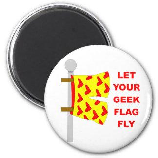 geek flag 6 cm round magnet