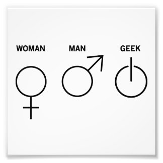 Geek Gender Photo Print