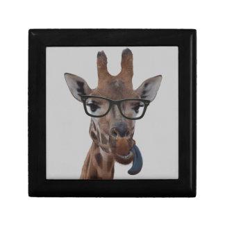 Geek Giraffe Small Square Gift Box